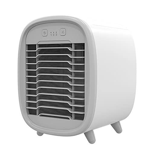 Raffreddatore d'Aria Mini Condizionatori Portatili Fan Air Cooler Condizionatore d'Aria Portatile USB Ventola di Raffreddamento Umidificatore Spazio Personale,