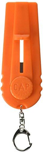 The Cap Zappa Flaschenöffner und Kronkorken Schleuder , Launcher Bier Flaschenöffner (Orange)