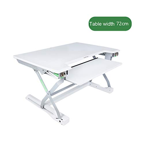 CIKO Passend für Stehpult mit Zwei Monitoren und höhenverstellbarem Stehpultkonverter, 34 Zoll ergonomische Tischarbeitsstation