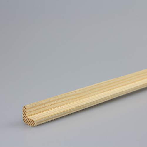 Winkelleiste Schutzwinkel Winkelprofil Tapeten-Eckleiste Abschlussleiste Abdeckleiste aus Kiefer-Massivholz 900 x 13 x 13 mm