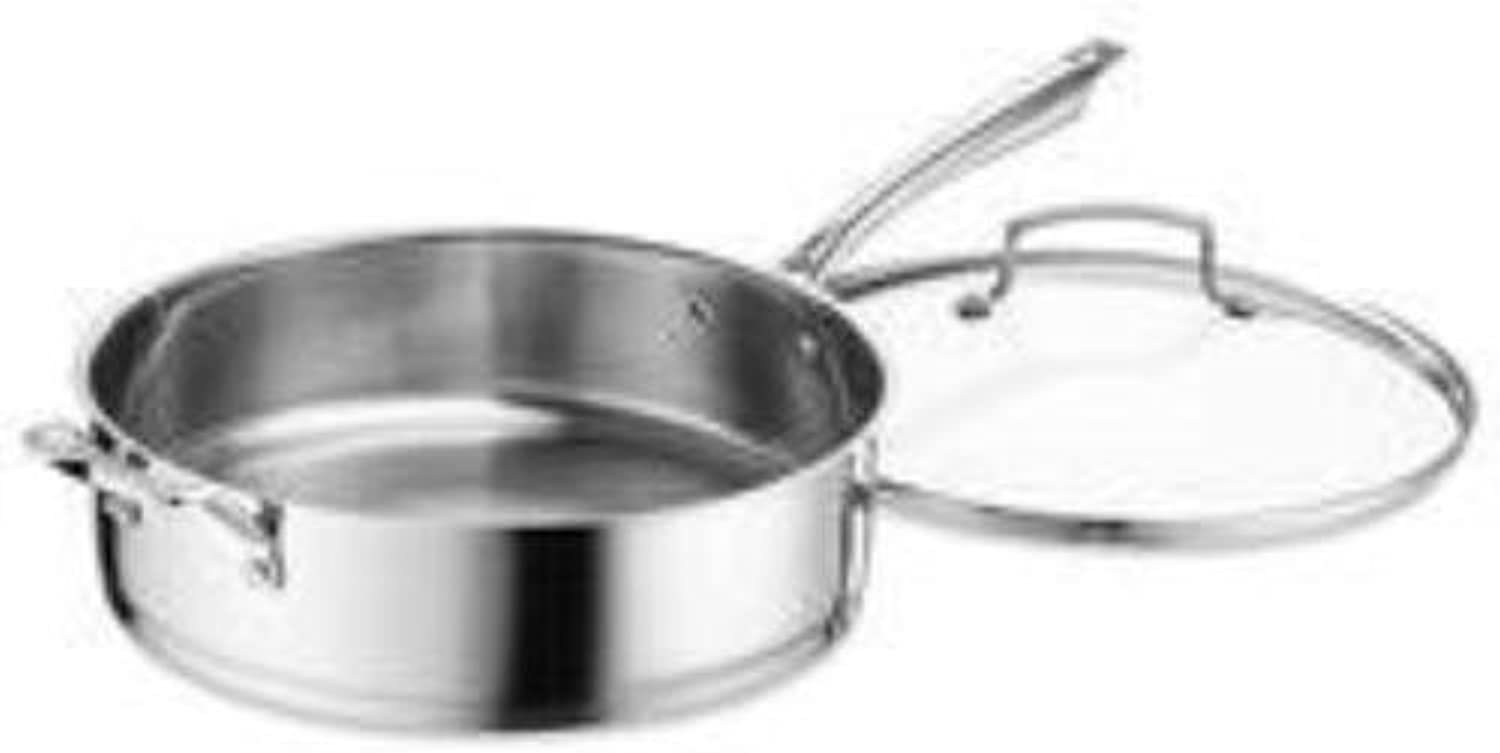 Cuisinart 89336-30H Professional Stainless Saute with Cover, 6-Quart