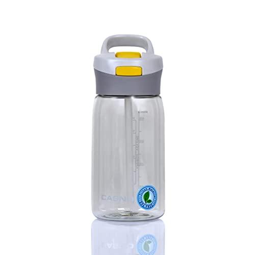 CASNO KXN-1206A - Botella portátil reutilizable con filtro o tubo fuerte, pequeña tritán bebidas o agua Tritan Jukon, 500 ml, botella gris