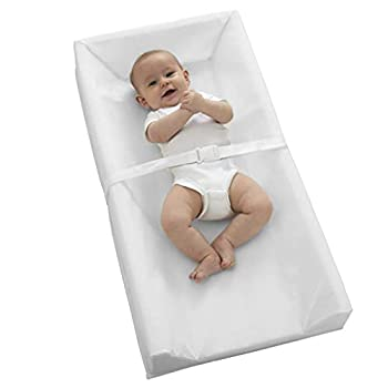 """Sealy Baby Soybean Comfort 3-Sided Contoured Diaper Changing Pad for Dresser or Changing Table White 32"""" x 16"""""""