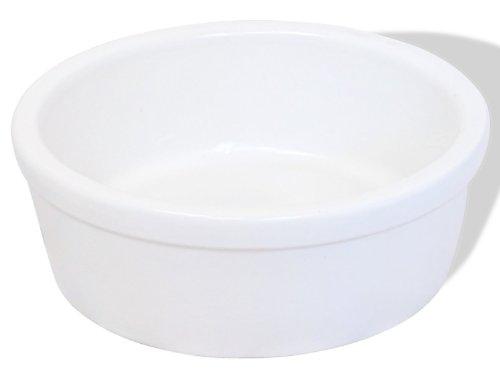 K&K Hunde Futternapf, 3,8 Liter, weiß-matt, aus schwerer Steinzeug-Keramik