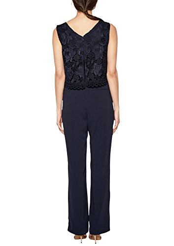 s.Oliver BLACK LABEL Damen Jumpsuit, Blau (Dark Ocean) - 2