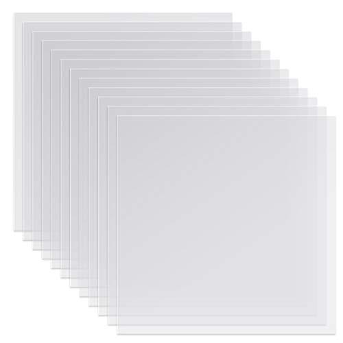 Outivity Blank Schablonen Blätter 12 Stück 4 mil 12 x 12 Zoll Blank Mylar Template Material zur Herstellung Ihrer Eigenen Schablonen, ideal kompatibel mit Cricut Vinyl Schneidemaschine
