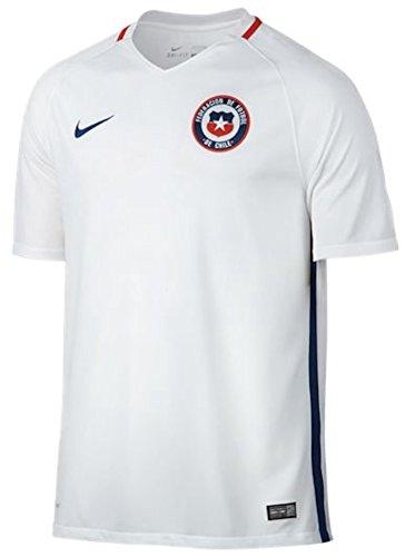 Nike Fußball Chile Home Stadium Jersey (weiß), Herren, White, Gym Blue