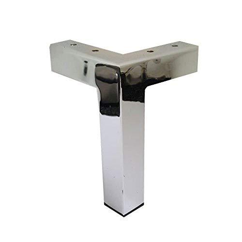 Möbelfuß eckig Chrom Höhe 15 cm