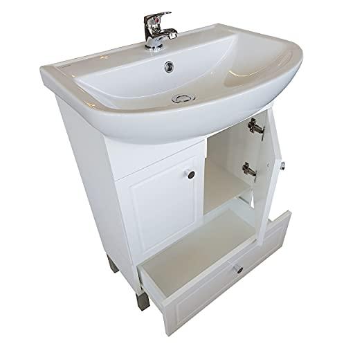 Mueble bajo lavabo Ibiza blanco brillante MDF mueble de baño