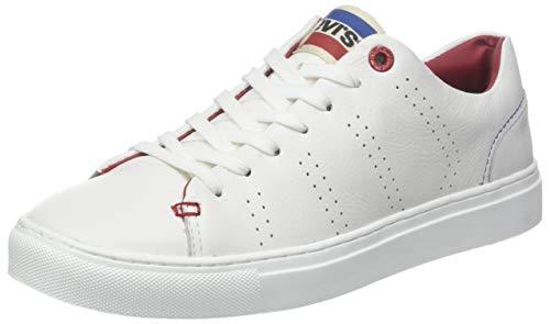 Levis Footwear and Accessories Vernon Sportswear, Zapatillas para Hombre, Blanco (Regular White 51), 42 EU