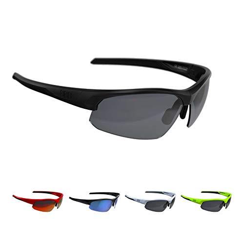 BBB Cycling Fahrradbrille Impress | Herren und Damen Sportbrille Sonnenbrille Radsport | mit Wechselgläsern | Polycarbonat | MTB Rennrad Urban | Matt Schwarz M | BSG-58