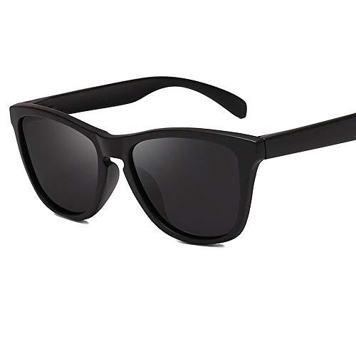 Caja Grande De Moda Gafas De Sol para Hombre Y Mujer Polarizadas Gafas ProteccióN para ConduccióN Gafas De Deportes Al Aire Libre De Pesca De Moda Regalo De San ValentíN (Color : Black)