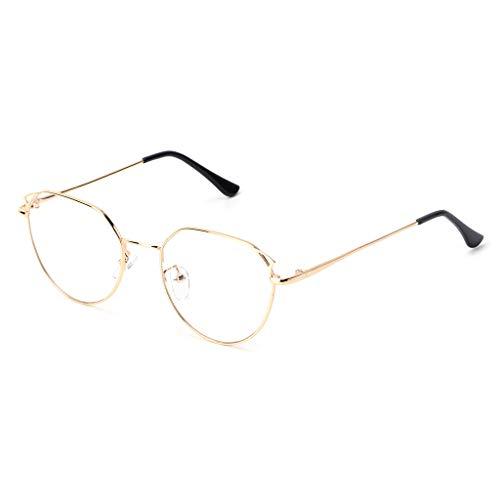 2018 Optische Brille mit Katzenaugen-Brillenglas, transparent, Unixx Brille