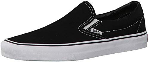 Vans Unisex Adults' Classic Slip On Trainers Black/White