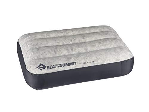 Sea to Summit Aeros Down Pillow L Almohada Montañismo, Alpinismo y Trekking, Adultos Unisex, Gris (Grey)