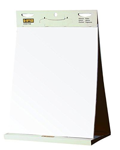 Bi-Office - Bloc de papel para reuniones, blanco liso, 585 x 500 mm, 20 hojas