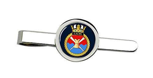 Giftshop UK HMS Calpe, Real Azul Marino Corbata Broche