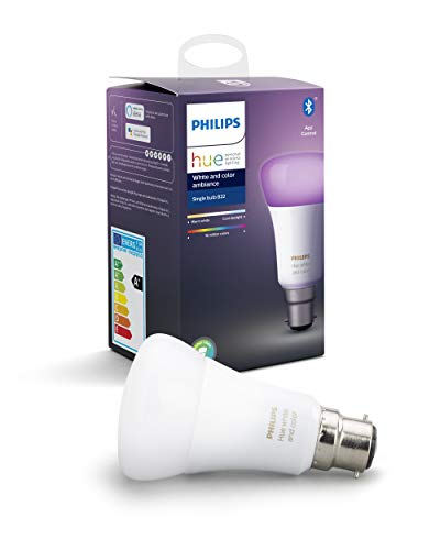 Philips Hue Ampoule LED Connectée White & Color Ambiance B22 Compatible Bluetooth,...