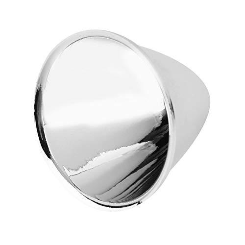 ASVNDD Ersättande reflektor kopp lampskärmar aluminium silver LED ficklampa ficklampa ficklampa gör-det-själv lampa lätt att installera inga verktyg (färg: 1)