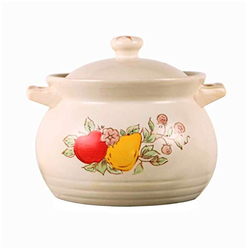 WLVG Olla de cazuela Olla de cerámica de Gas para el hogar Olla de Sopa Olla de Sopa Olla Resistente al Fuego ollas de Cocina ollas de Cocina ollas de Cocina (tamaño: 3.9L)