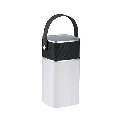 Paulmann 94211 LED Akkuleuchte Mobile Tischleuchte Clutch Power Sound incl. 1x1,3 Watt IP44 dimmbar Mobiles Licht Grau Akkulampe Kunststoff Kabellos 3000 K