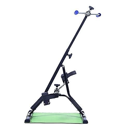 Pedalier Brazos y Piernas, Entrenador de Pies y Manos con resistencia variable, para gimnasio en casa, altura ajustable 86,5-94 cm/Black / 94x50x40cm