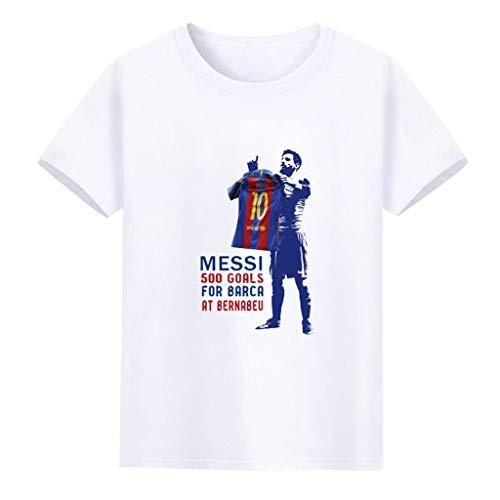XXW Edición Conmemorativa 500 Bola Messi Mesa Camiseta Algodón Ropa De Fútbol Camiseta De Manga Corta Camiseta De Verano para Hombres Balón De Pie Tops Tops Lionel Messi Camisetas Estampadas