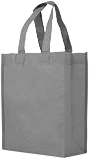 Reusable Gift/Party/Lunch Tote Bags - 25 Pack - Gray