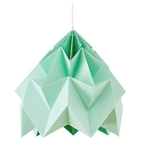 Suspension Origami Moth Menthe XL Diam 40 cm Snowpuppe