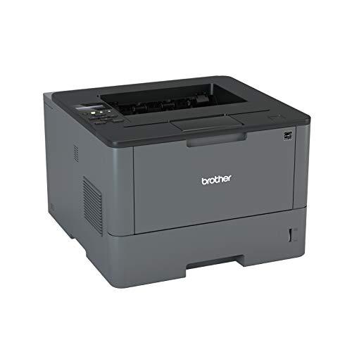 Brother - Impresora láser Profesional Monocromo (Bandeja 250 Hojas, 40 ppm, USB 2.0, Memoria de 256 MB, Doble Cara automática, Ethernet) Color Gris carbón (HLL5100DNG1)