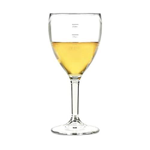 Elite Premium, in policarbonato, bicchieri da vino, 11 cl, 125 ml, marchio CE & 175 ml, 250 ml, confezione da 12 bicchieri da vino in plastica riutilizzabili, in policarbonato praticamente indistruttibili, in plastica, con marchio CE, ideale per feste, eventi all'aperto & Catering