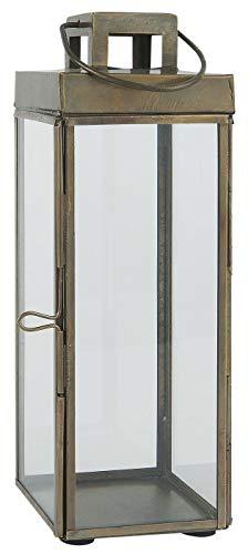 Ib Laursen Square Glazen Lantaarn/Pijler Kaarsenhouder met haak 25,5 cm