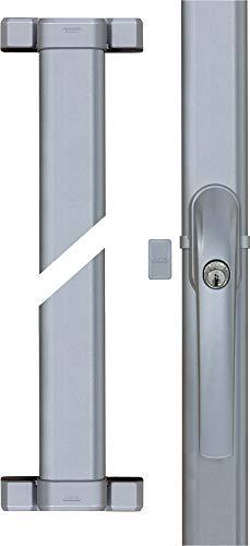 ABUS FOS550 S AL0145 Fenster-Stangenschloss ohne Riegelstangen, Silber