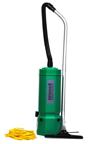 Bissell BigGreen Commercial BG1001 High Filtration Backpack Vacuum, 1375W, 25.5' Height, 10 qt Capacity, Red