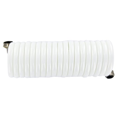 Plastair SpringHose PUWE615B9-M-11S-AMZ Light EVA Lead Free Drinking Water Safe Marine/RV Recoil Hose, White, 3/8-Inch by 15-Foot