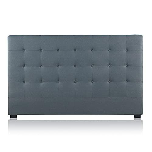 INTENSEDECO Tête de lit capitonnée Premium Tissu 180cm Gris