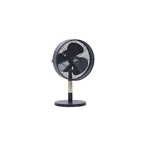 Farelek 112027 Ventilatore da tavolo, Metallo, Nero e Legno