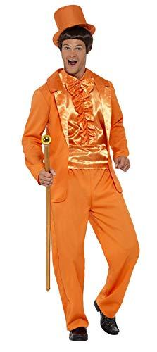 Smiffys-43204XL Esmoquin Divertido de los 90, Color Naranja con Chaqueta, Pantalones, Babero IMI, XL-Tamao 46'-48' (Smiffy'S 43204XL)