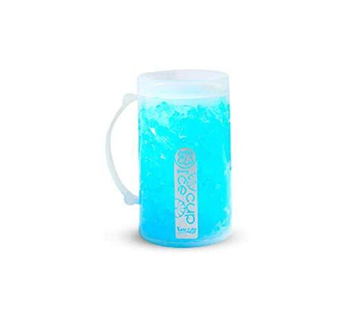 GJNVBDZSF Eisbecher, Instant-Eisbecher mit doppelter Kühlung, schneller Eisbecher, Bierkrug, zerbrochener Eisbecher, leuchtender Eisbecher, doppelte schnelle Eisherstellung