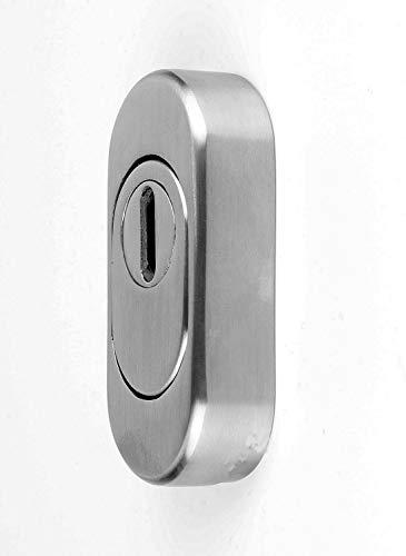 Edelstahl SCHIEBE-Schlüsselrosette für Profilzylinder mit Zylinderabdeckung