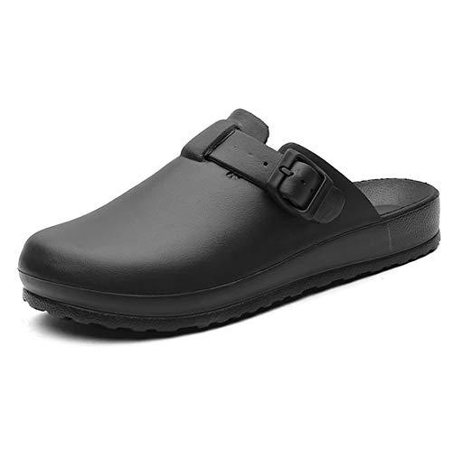 Pinji - Zuecos Sanitarios para Hombres y Mujeres, Zuecos de Cocineros de EVA Zapatos Antideslizantes Impermeable, Zuecos de Trabajo Unisex Adulto Ultra Ligero Cómodo