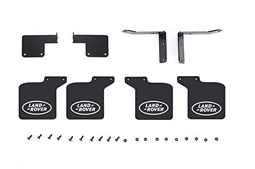 GPM R/C Scale Accessories : Front & Rear Skid Plate For Traxxas TRX-4 Trail Defender Crawler - 28Pc Set Black