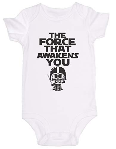 Promini Grenouillère pour bébé Motif La Force qui réveille vous Star Wars - Blanc - 6 mois