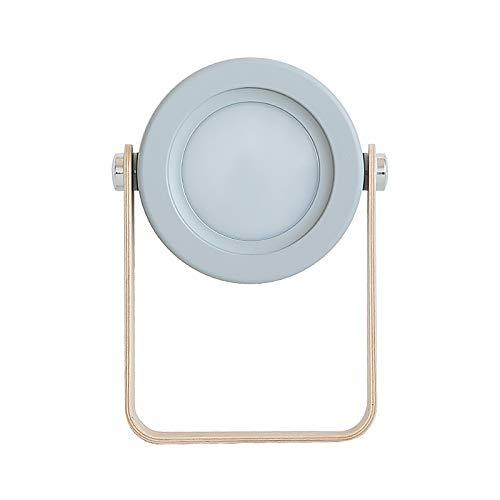 BIOBEY Lampe de lanterne de table pliable, lampe de lecture à poignée en bois Lampe de table à LED pliable rétractable USB pour chevet de chambre à coucher