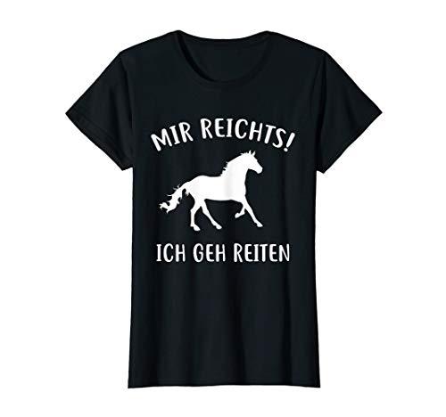 Mir Reichts Ich Geh Reiten Pferde Geschenk Pferdeliebhaber T-Shirt
