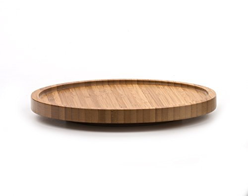 RSVP International Tool Crock Turntable Lazy Susan Bamboo 825  Handy in Cabinets or on Counters  Rotating Base with Sturdy Lip  Organize Spices Small Bottles