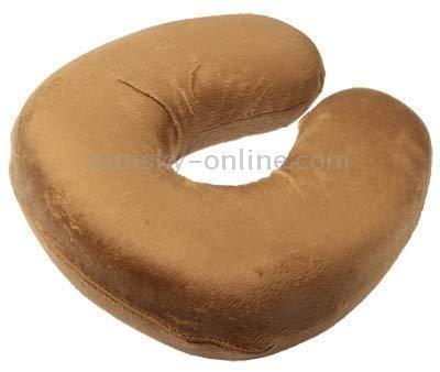 Productos de Textiles para el hogar MMGZ Linda Forma de U Suave Resto del Cuello del Coche! Oficina de Almohadas de Regalo (Brown) (Color : Magenta)