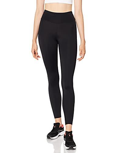 AURIQUE Leggings Sportivi a Vita Alta Donna, Nero (Black), 44, Label:M