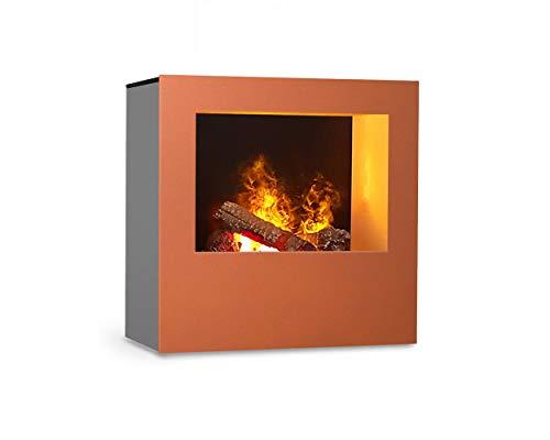 Magma infraroodhaard (koper/grijs), verwarmbare elektrische kachel met Optimyst vlamsimulatie