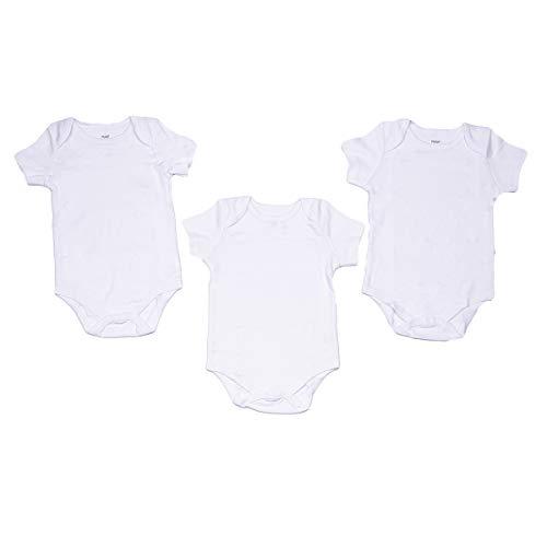 Panco Unisex Baby kurzam Body im 3er Set - weiß (62)